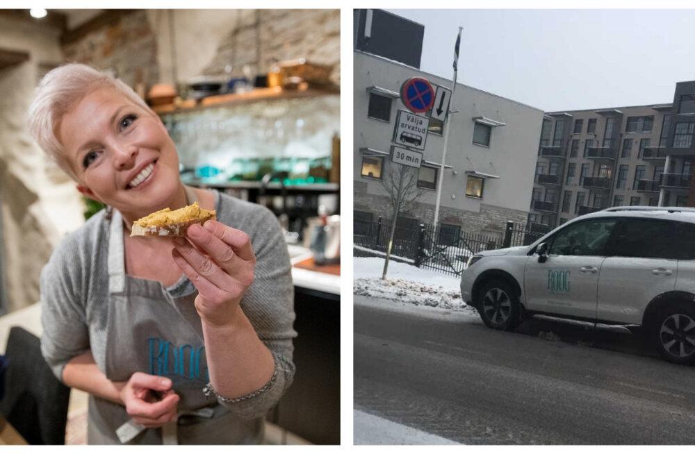 FOTO | Kas kuulsustele on rohkem lubatud kui tavakodanikule? Evelin Ilvese restorani kirjadega maastur eirab liiklusmärki