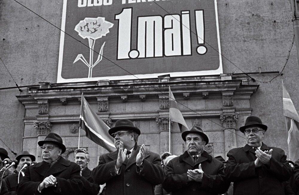 Kolleegid ja vaenlased: vasakult Käbin, Vader, ministrite nõukogu esimees Klauson ja Lebedev 1976. aastal.