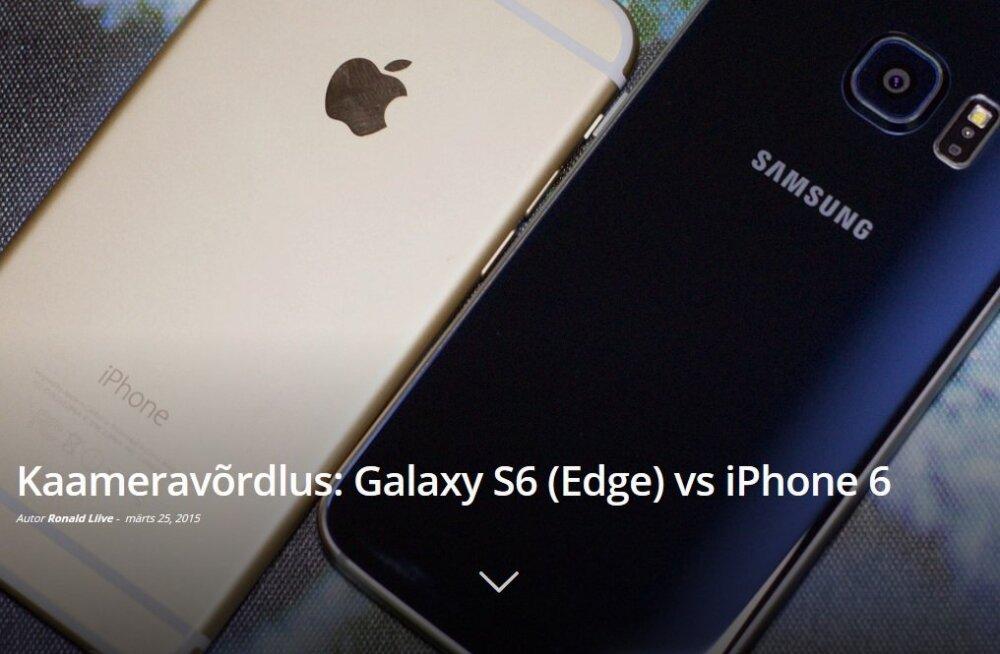 Kaameravõrdlus: Galaxy S6 (Edge) vs iPhone 6