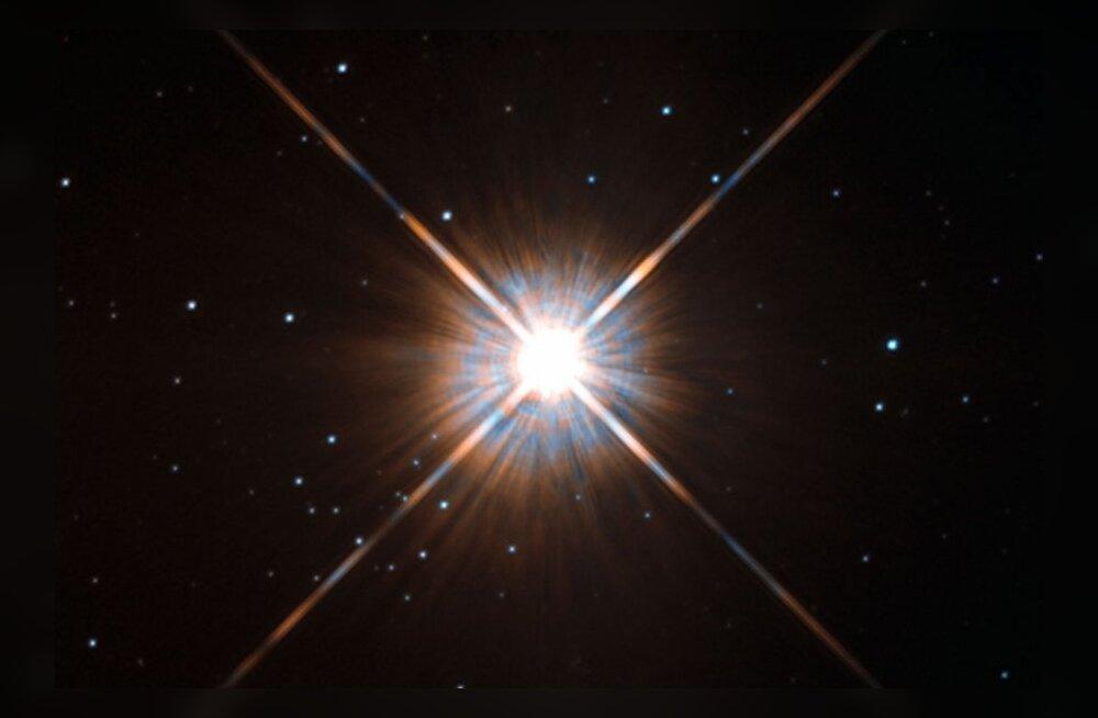 Maale lähim täht Proxima Centauri. Palja silmaga seda ei näe. Foto: ESA/Hubble & NASA