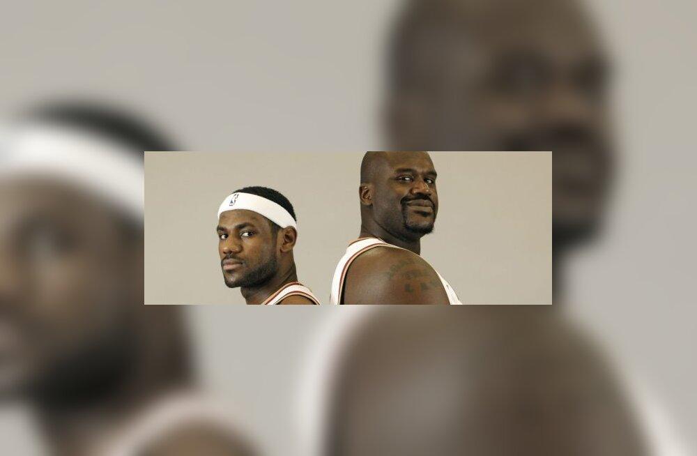 LeBron James ja Shaquille O`Neal (Cavaliers)