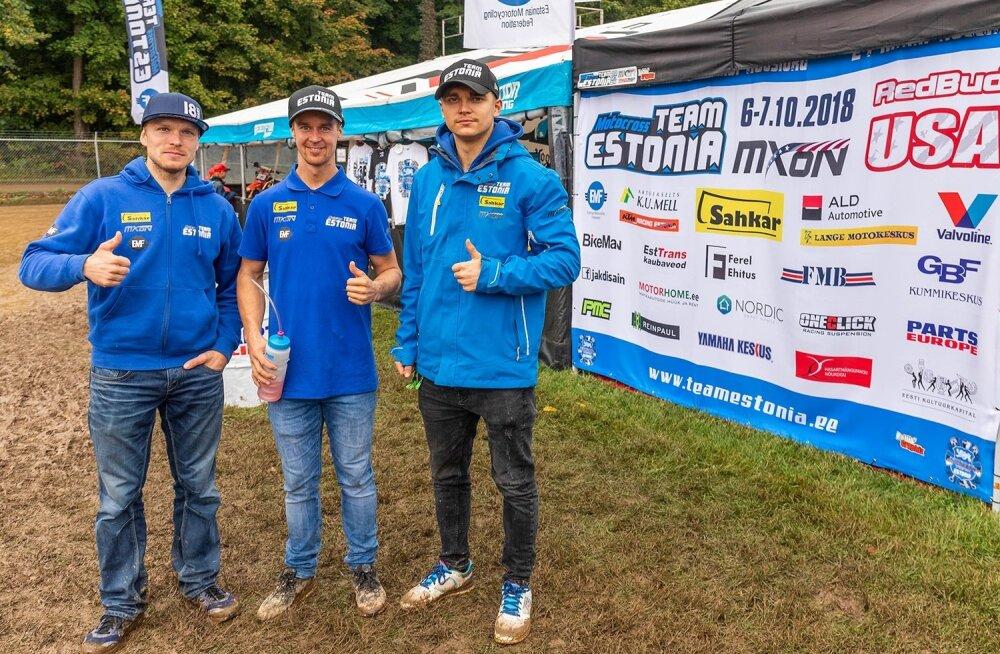 2018 koondis (vasakult) Tanel Leok, Harri Kullas ja Hardi Roosiorg