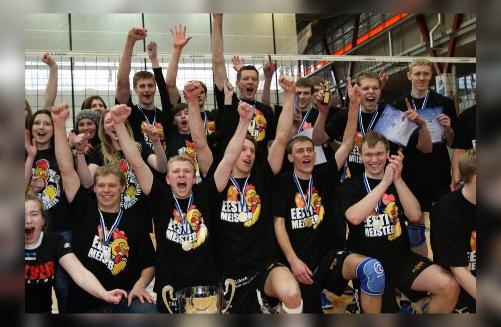 VIDEO/FOTOD: Tallinna Selver tuli Pärnus Eesti võrkpallimeistriks!