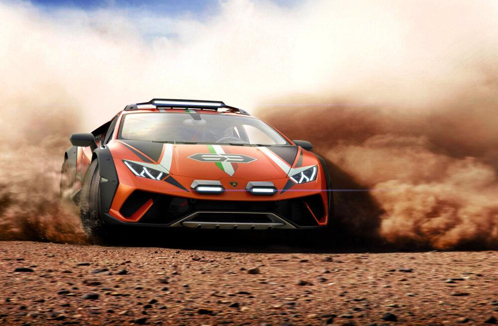 FOTOD   Lamborghini tutvustas Huracáni eriversiooni Sterrato, mis peaks hakkama saama ka maastikul
