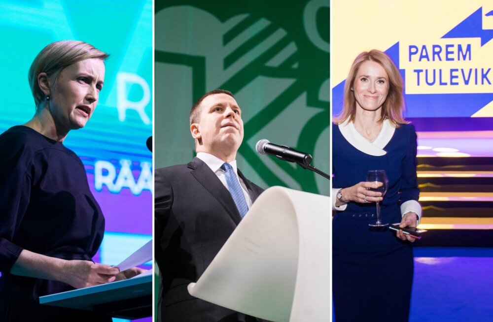 """Разбор полетов: Партия реформ в свой речи говорила о будущем, Центристская партия — о настоящем, """"Ээсти 200"""" — об Эстонии"""