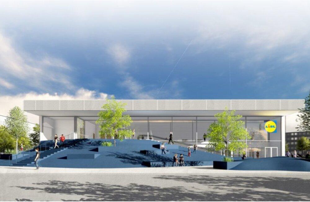 Архитектурный конкурс на строительство нарвского магазина Lidl выиграло бюро Molumba OÜ