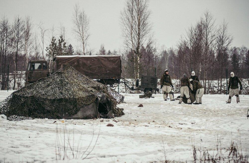 Välkõppuse Okas raames toimunud relva- ja taktikaõpe Sirgala harjutusalal