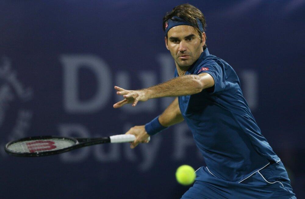 Roger Federer Dubai tenniseturniiril.