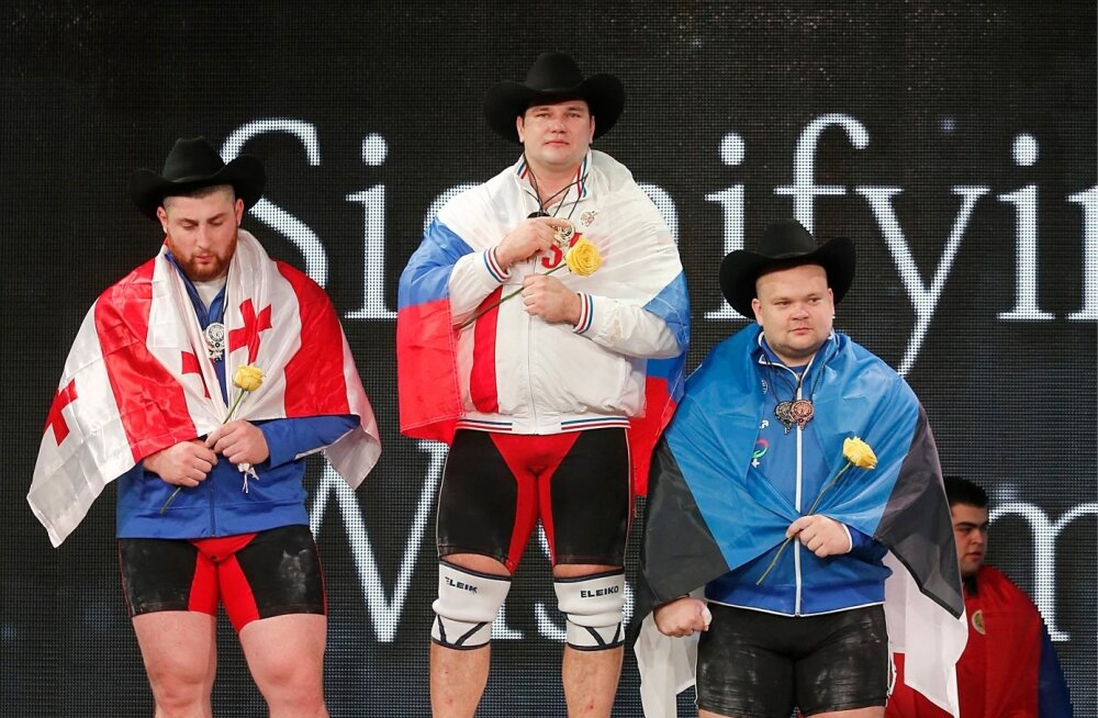 Laša Talahhadze (vasakul), Aleksei Lovtšev (keskel) ja Mart Seim.