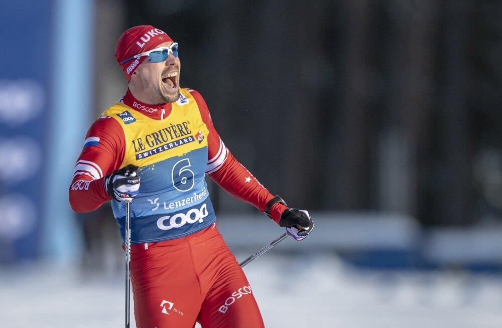 Sergei Ustjugov võitu tähistamas.