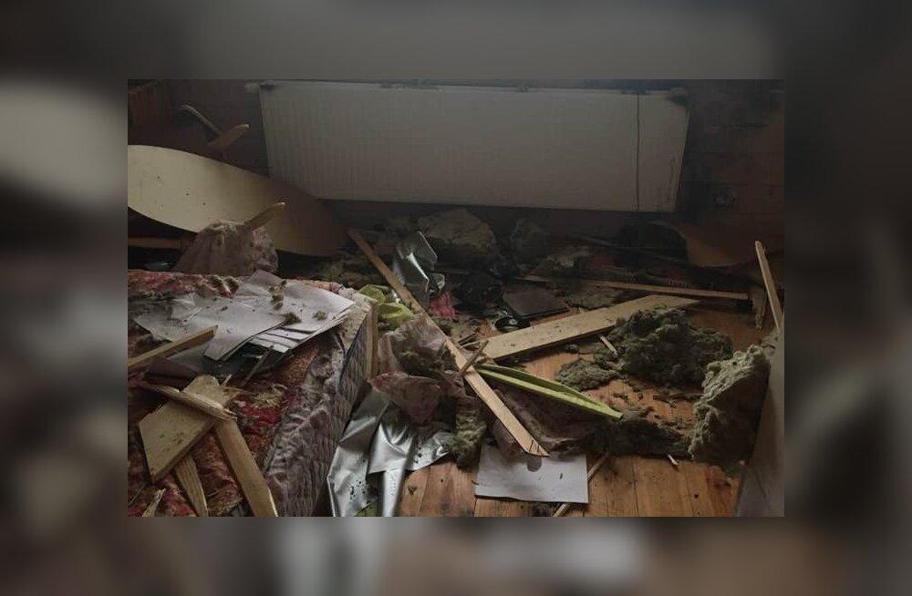 Kihnus majja löönud välk lõi segamini pool majapidamist