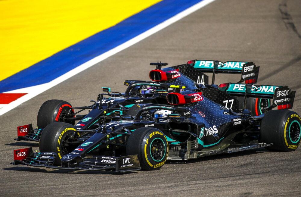 BLOGI | Vormel-1 Sotši GP: Bottas noppis hooaja teise võidu, karistada saanud Hamilton jäi kolmandaks