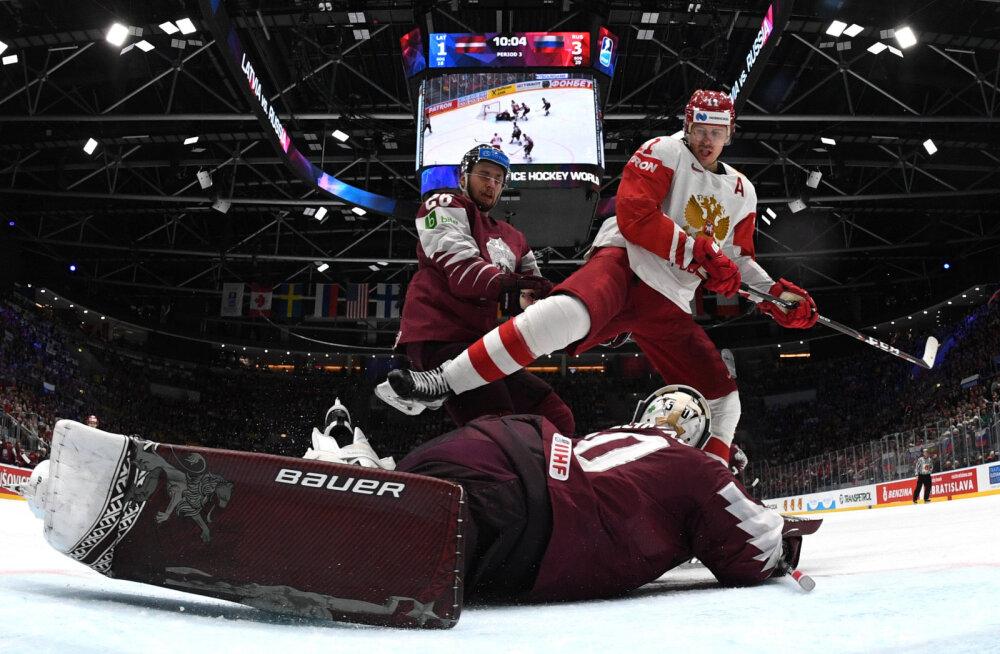 VIDEO   Lätlasi võitnud Venemaa jätkab jäähoki MM-il täiseduga, USA purustas Taani