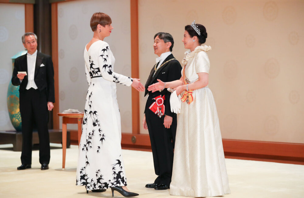 ФОТО | Смотрите, в чем была Керсти Кальюлайд на церемонии интронизации японского императора!