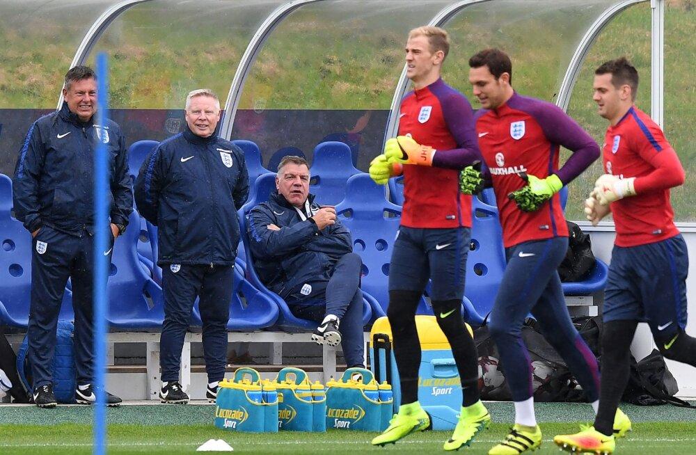 Sam Allardyce (istub) Inglise koondise treeningul