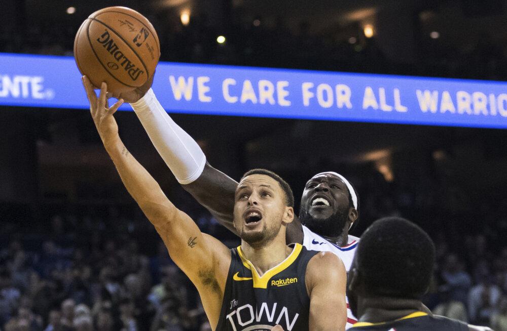 VIDEO | Stephen Curry viimase sekundi vise tõi Warriorsile võidu Clippersi üle, Mavericks sai viienda järjestikuse kaotuse