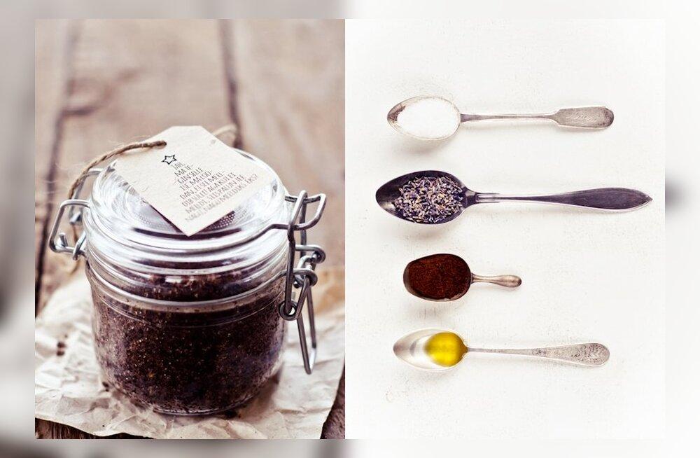 Tee ise: kohvi-lavendli kehakoorija ning lahedad kingisildid purkidele ja küpsetistele