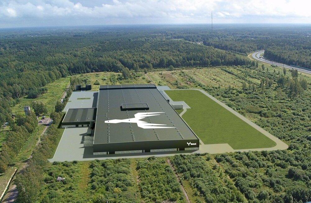 Selline hakkab tulevikus välja nägema Metsä Woodi Pärnu tehas, mis annab tööd u 200 inimesele.