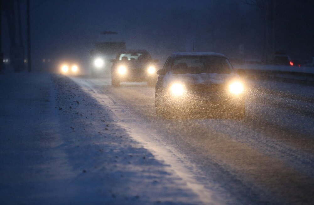 Ilmateenistus hoiatab tormi eest: sajab lund ja tuiskab! Teedele võib puid langeda