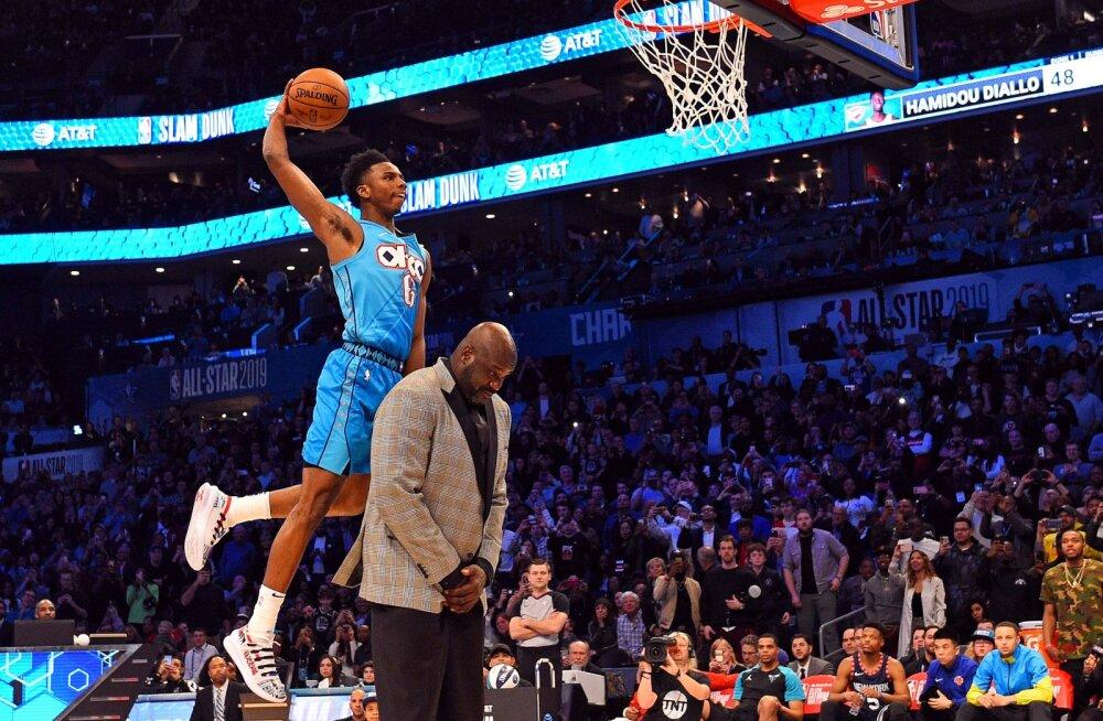VIDEO | NBA tähtede mängu eelõhtul särasid üle Shaqi pealt pannud Hamidou Diallo ja Curryle kolmesejoonel tuule alla teinud Joe Harris