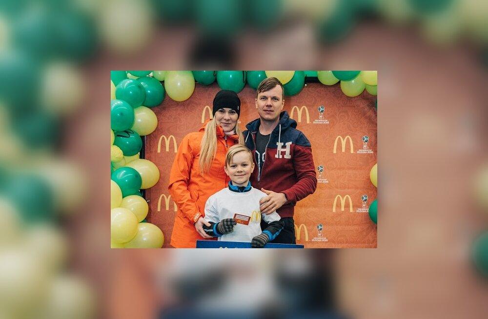 Palju õnne! 8-aastane Eesti jalgpallur Tristen Kool sõidab ametliku staarisaatjana jalgpalli MM-i finaalmängule