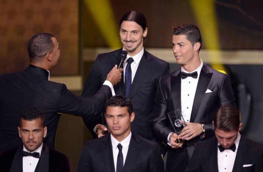 Ibrahimovic tögas imevärava löönud Ronaldot: kena löök küll, aga...