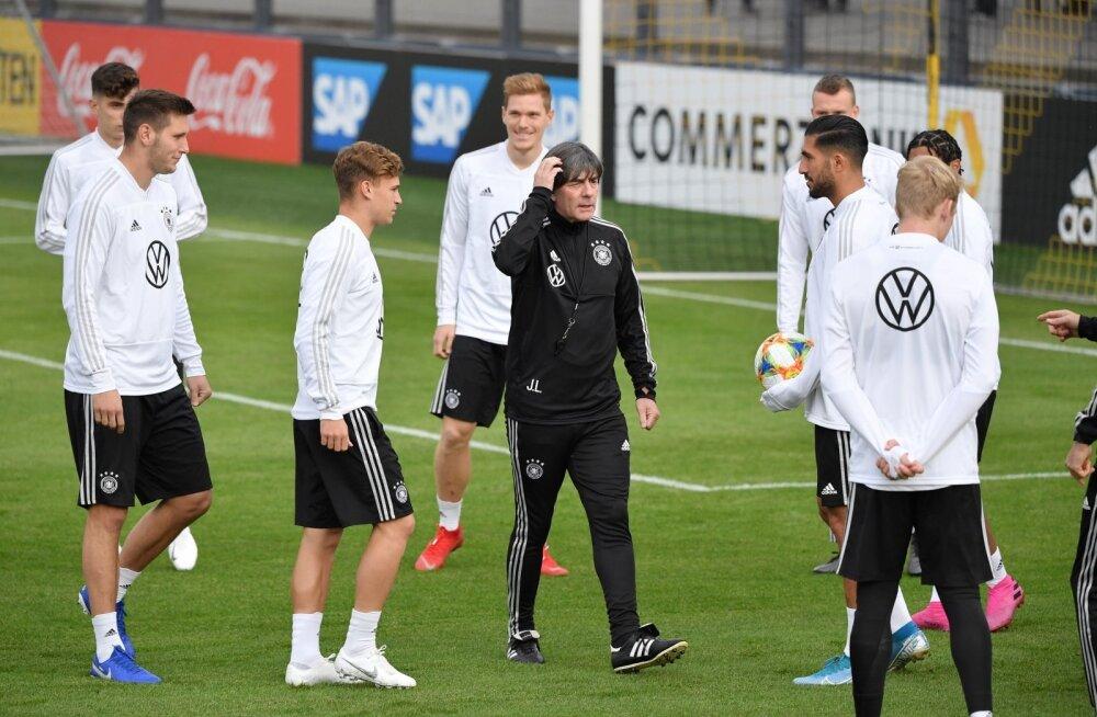 Saksamaa jalgpallikoondis treeningul.