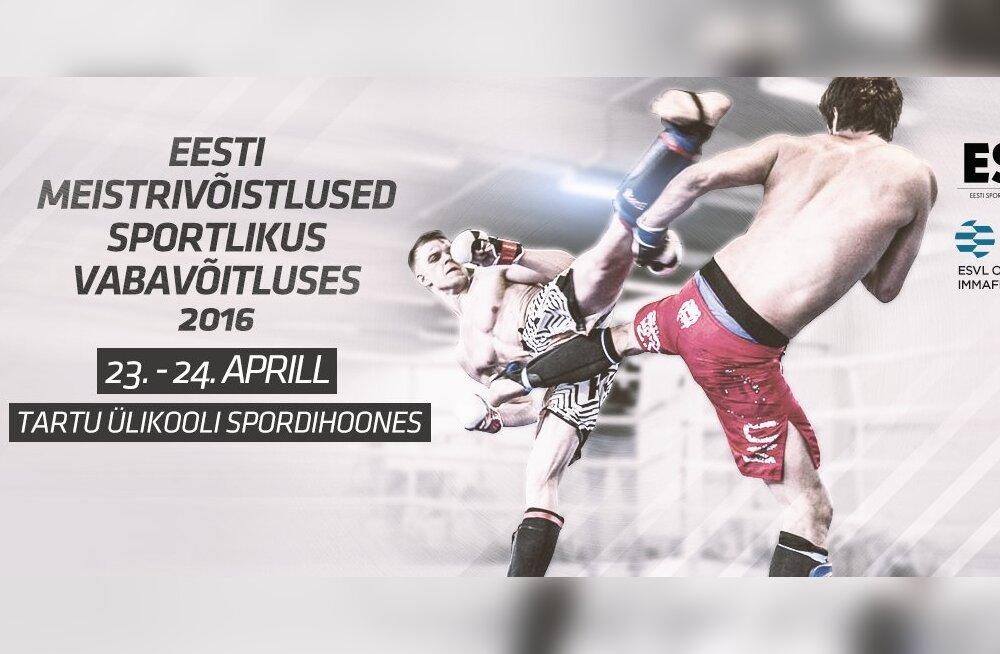 Vabavõitluse Eesti meistrivõistlused toimuvad 23. - 24. aprillil Tartus.