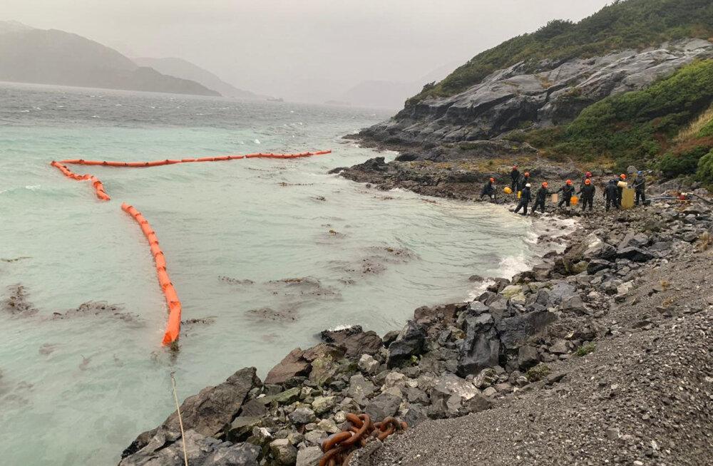 Tšiili rannikult voolas merre ca 40 000 liitrit diislit