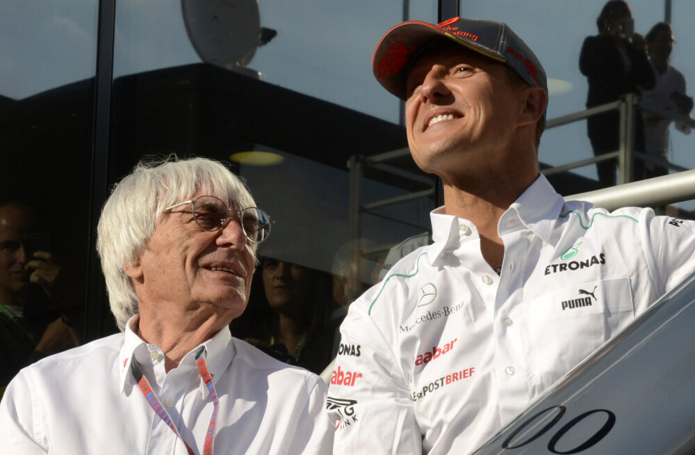 Bernie Ecclestone ja Michael Schumacher