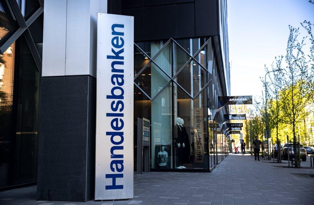 Handelsbankeni kontor Tallinnas asub kiviviske kaugusel Eesti Pangast.