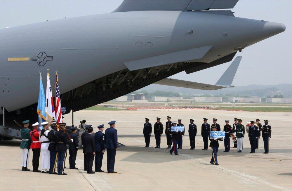 Põhja-Korea andis üle Korea sõjas langenud USA sõdurite säilmeid
