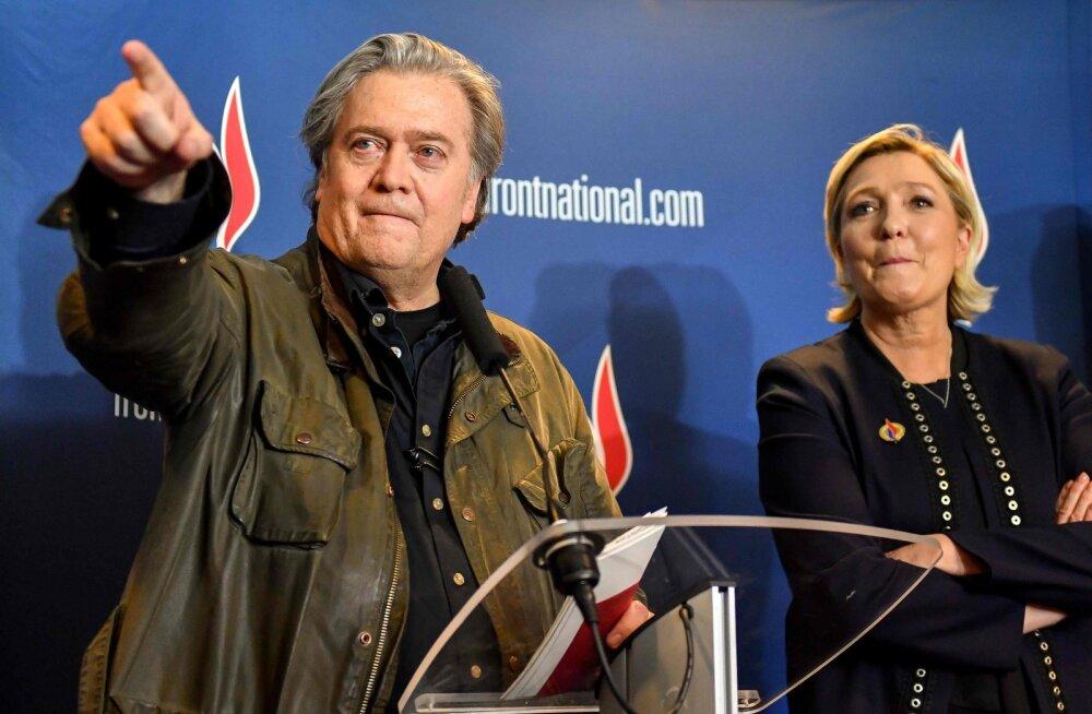 """Le Peni süüdistatakse kodumaal kokkumängus """"Euroopat hävitada püüdva"""" Steve Bannoniga"""