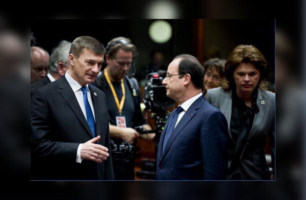 Andrus Ansip ülemkogul koos Francois Hollande'iga