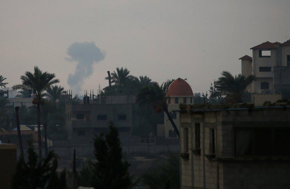 Gazast välja lastud rakett tabas Iisraelis elumaja, Iisrael vastas õhurünnakutega