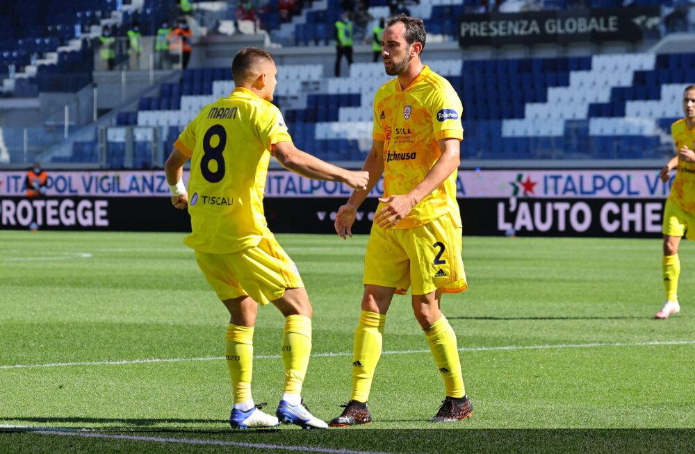 Kahekordne Meistrite Liiga finalist lõi Cagliari eest debüütmängus värava, Klavan sekkus viimasteks minutiteks