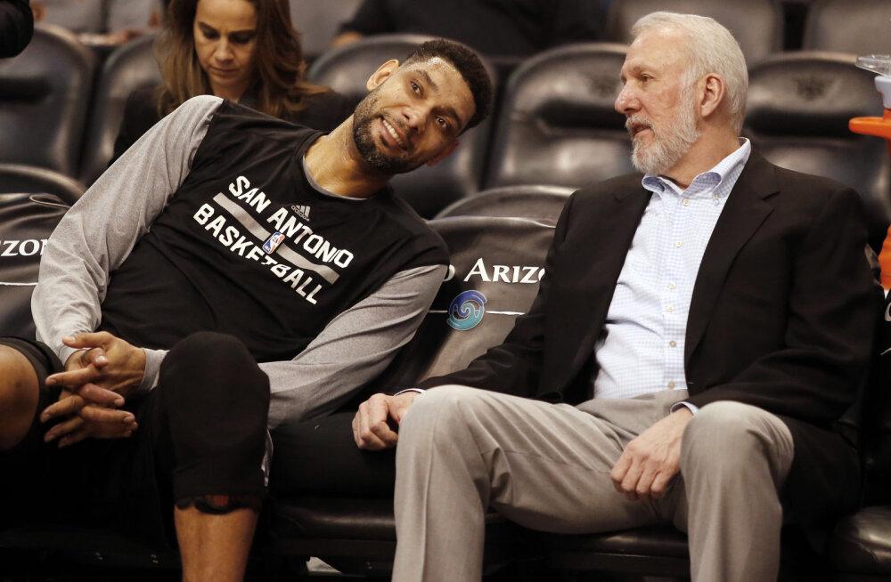 San Antonio Spurs palkas abitreeneriks legendaarse Tim Duncani