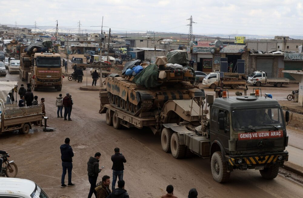 Süürias hukkus õhurünnakus vähemalt 33 Türgi sõdurit, Türgi andis tuld Süüria valitsuse sihtmärkide pihta