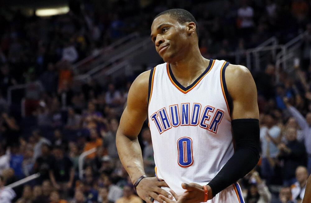Westbrooki kolmikduublist jäi Thunderile väheks
