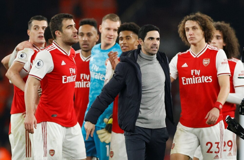 Mikel Arteta sai Arsenali treenerina võidu kätte.