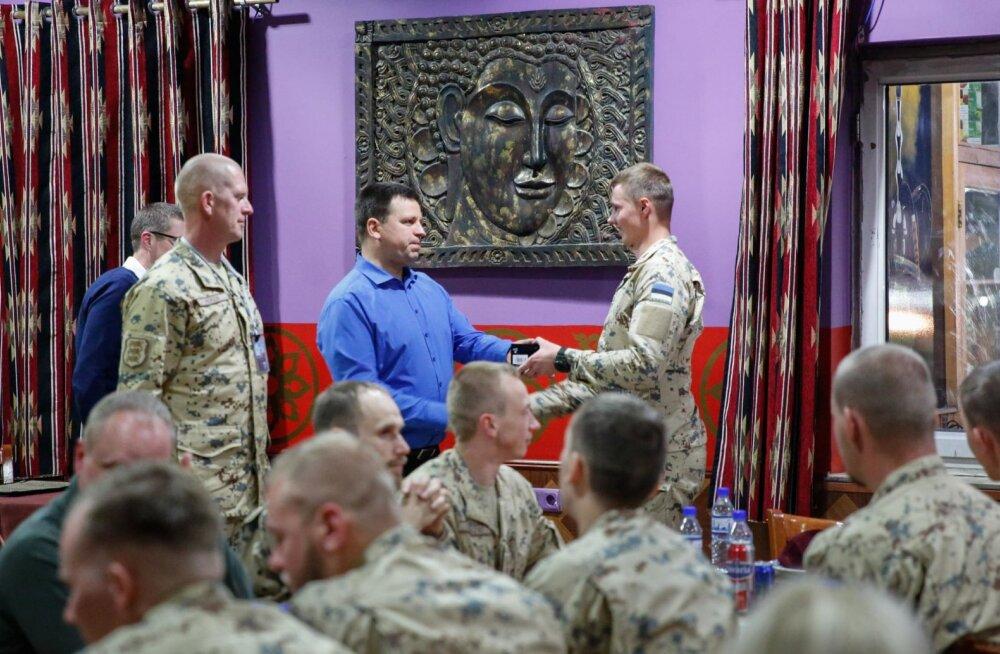 Ратас: я восхищен профессионализмом и смелостью эстонских военных в Афганистане