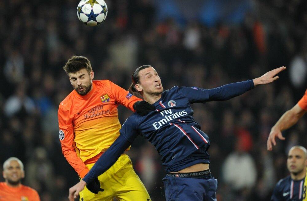 Gerard Pique ja Zlatan Ibrahimovic.