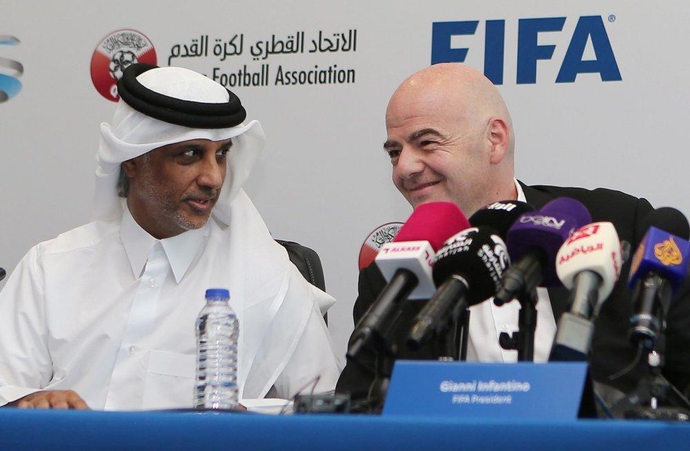 Hamad Bin Khalifa Bin Ahmed Al-Thani ja Infantino