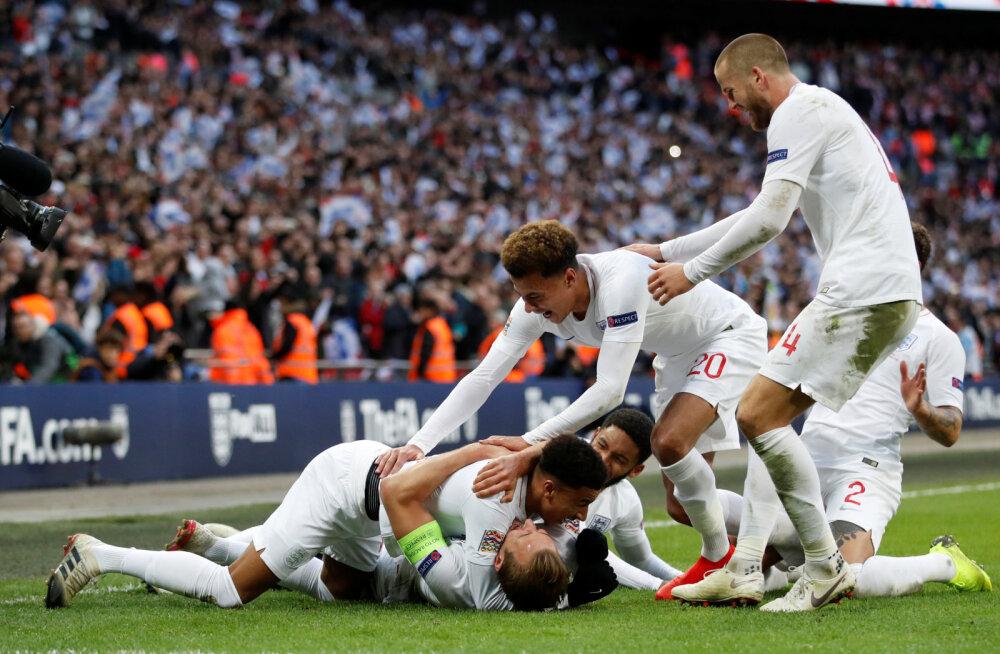 VIDEO | Lingardi ja Kane'i väravad viisid Inglismaa kaotusseisust Rahvuste liiga finaalturniirile
