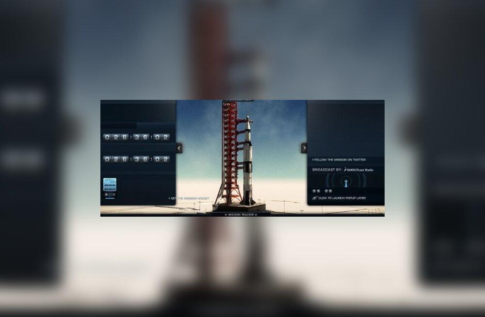 Apollo 11 kuumissioon taasesitatakse internetis