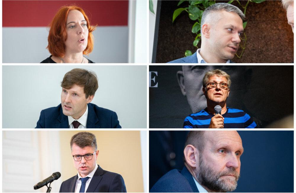 Mailis Reps, Andrei Korobeinik, Martin Helme, Jaak Valge, Urmas Reinsalu ja Helir-Valdor Seeder.