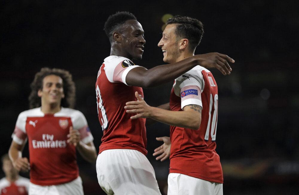 Euroopa liiga: Londoni Arsenal ja Chelsea alustasid eurosarja võidukalt
