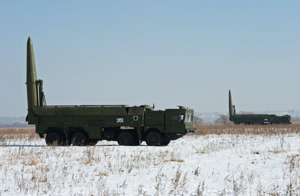 Vene raketi- ja suurtükiväed lähevad 2020. aastaks täielikult üle raketikompleksile Iskander-M
