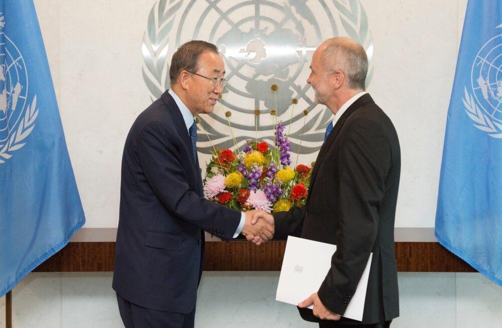 Ban Ki-moon ja Sven Jürgenson