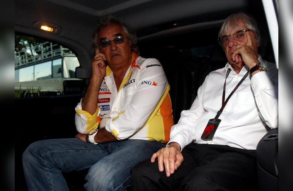 Flavio Briatore (vasakul) ja Bernie Ecclestone, vormel-1